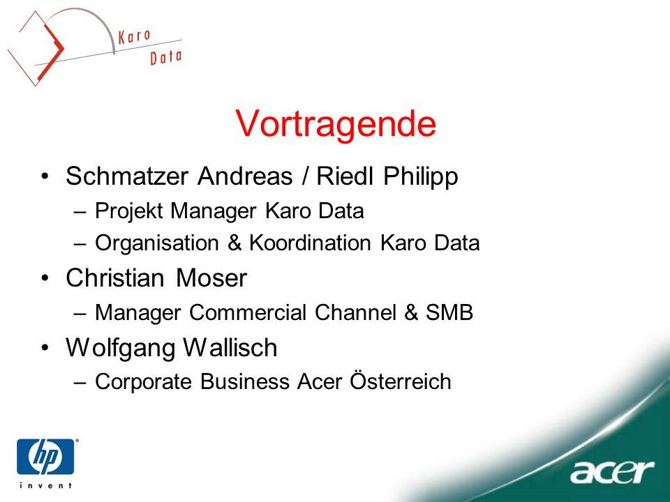 Vortragende Schmatzer Andreas / Riedl Philipp Christian Moser