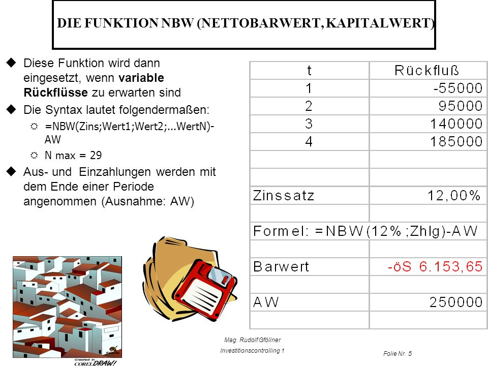 DIE FUNKTION NBW (NETTOBARWERT, KAPITALWERT)