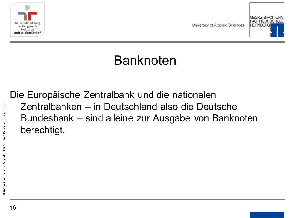 Notizen Gedruckt/printed. Banknoten.