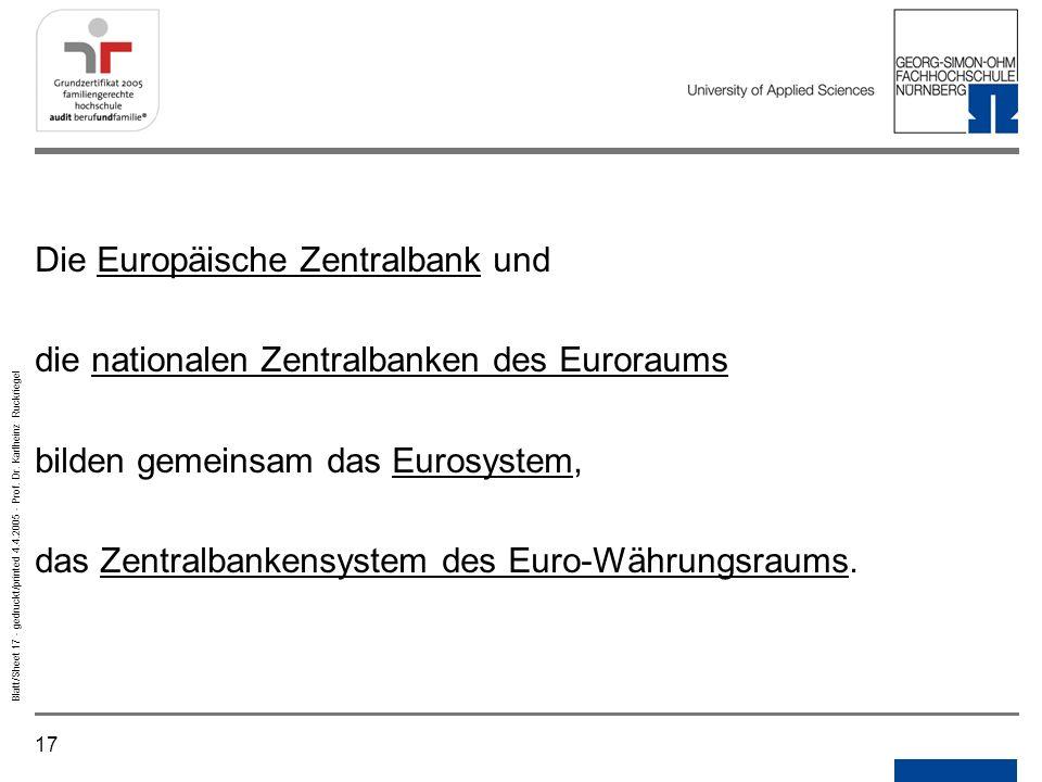Die Europäische Zentralbank und
