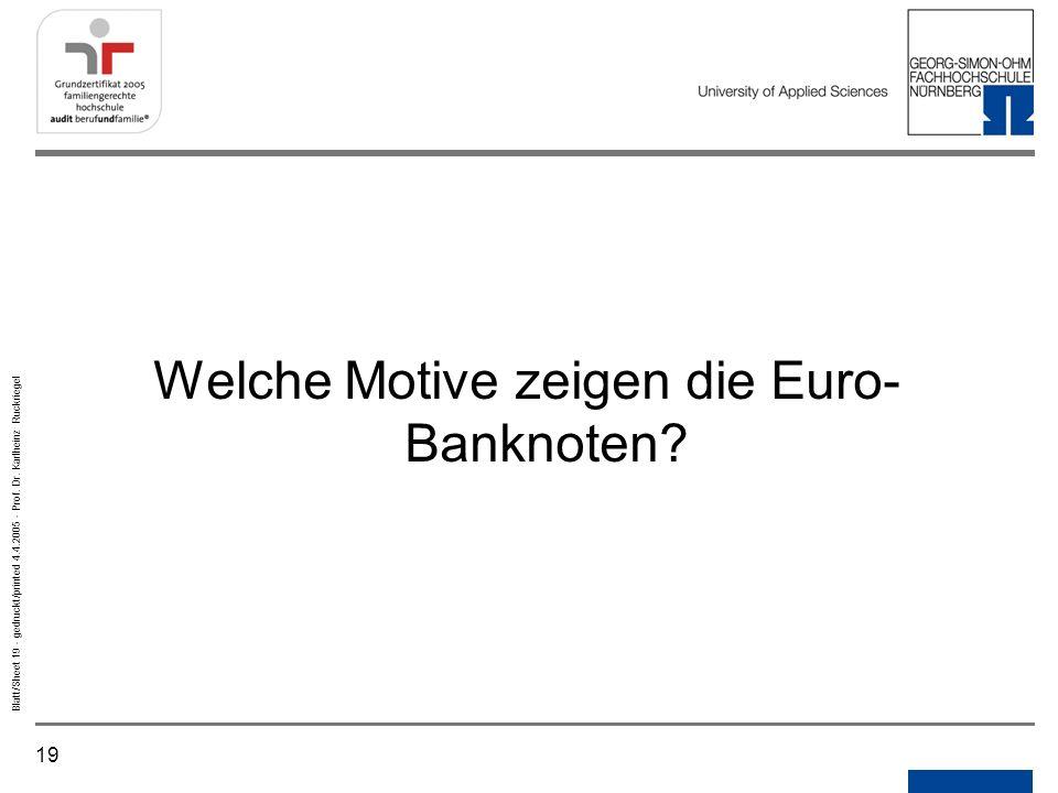 Welche Motive zeigen die Euro-Banknoten