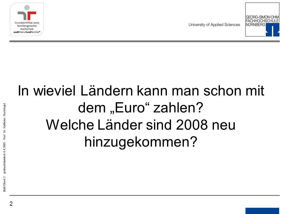 """Notizen Gedruckt/printed. In wieviel Ländern kann man schon mit dem """"Euro zahlen."""