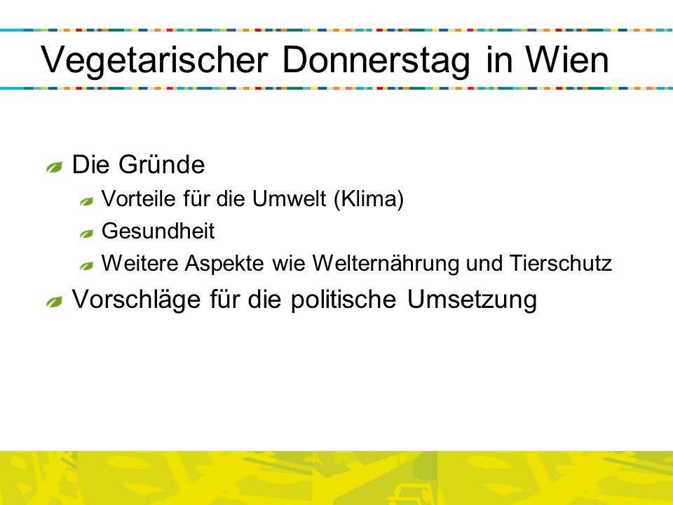 Vegetarischer Donnerstag in Wien