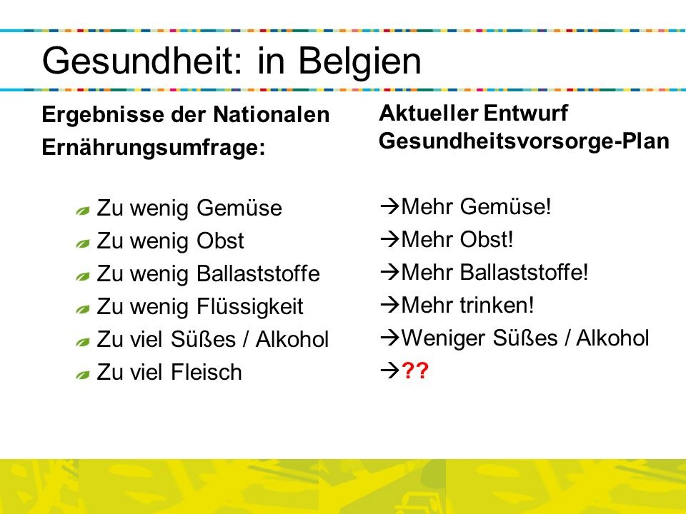 Gesundheit: in Belgien