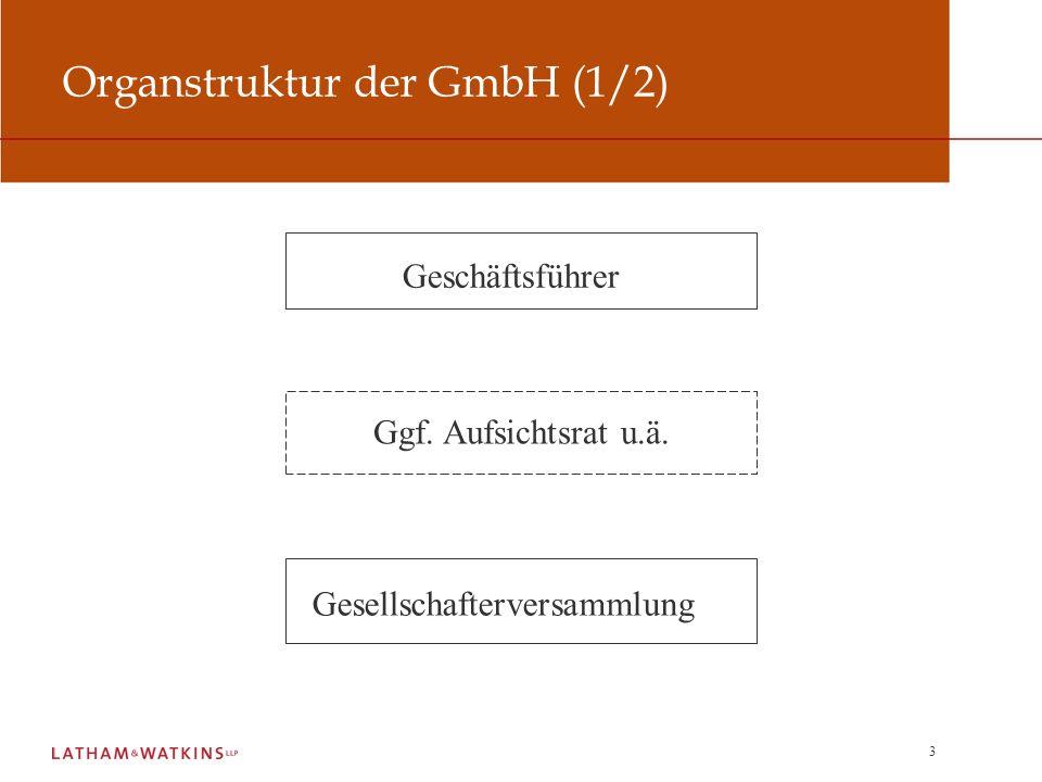 Organstruktur der GmbH (1/2)