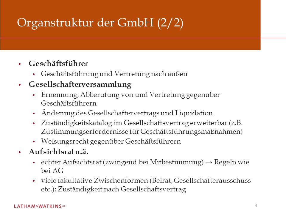 Organstruktur der GmbH (2/2)