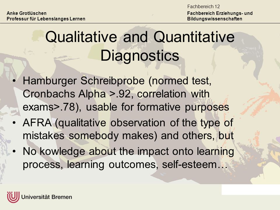 Qualitative and Quantitative Diagnostics