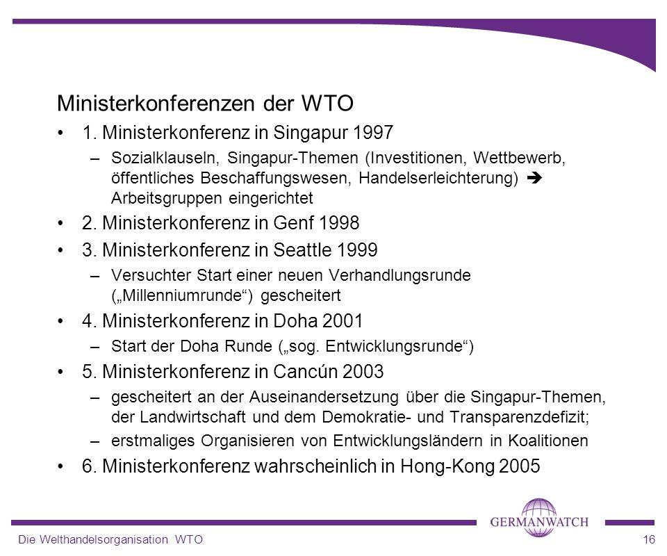Ministerkonferenzen der WTO