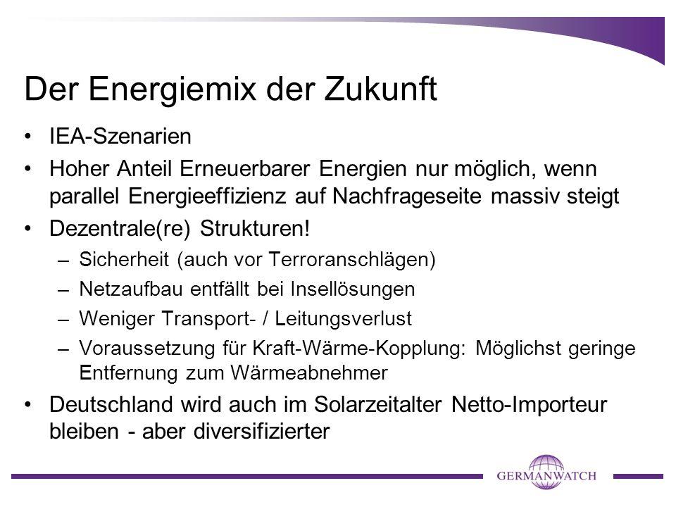 Der Energiemix der Zukunft