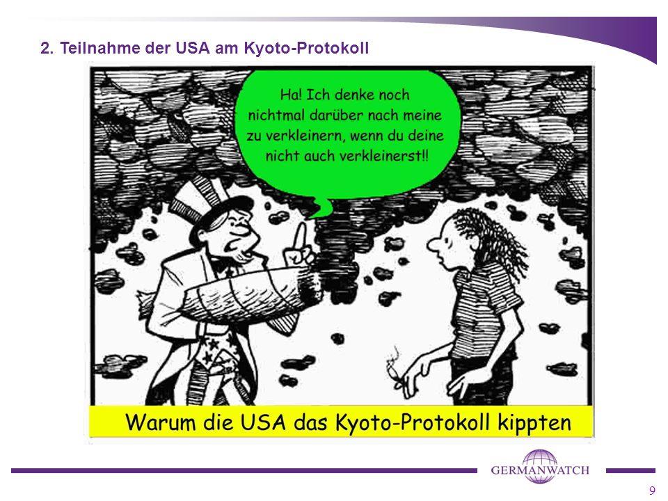 2. Teilnahme der USA am Kyoto-Protokoll