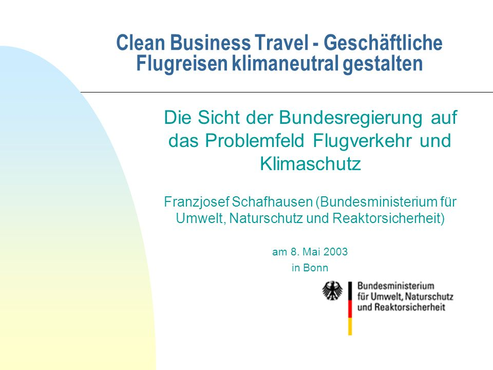 Clean Business Travel - Geschäftliche Flugreisen klimaneutral gestalten