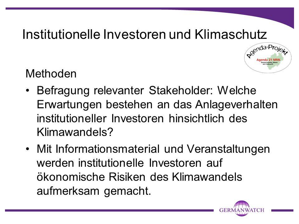 Institutionelle Investoren und Klimaschutz