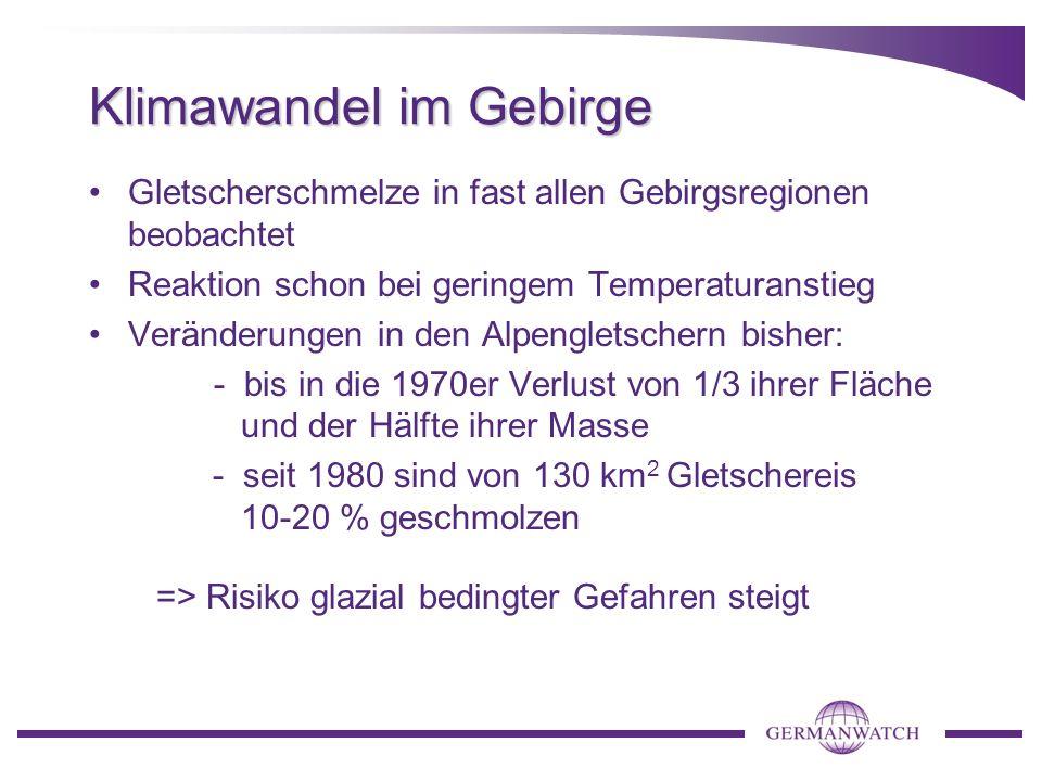 Klimawandel im Gebirge