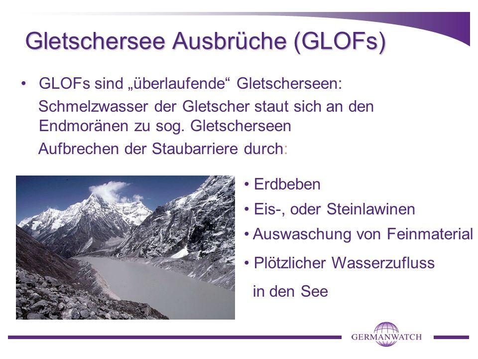 Gletschersee Ausbrüche (GLOFs)