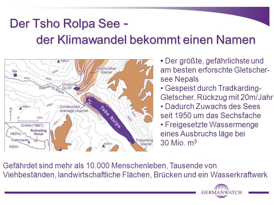 Der Tsho Rolpa See - der Klimawandel bekommt einen Namen