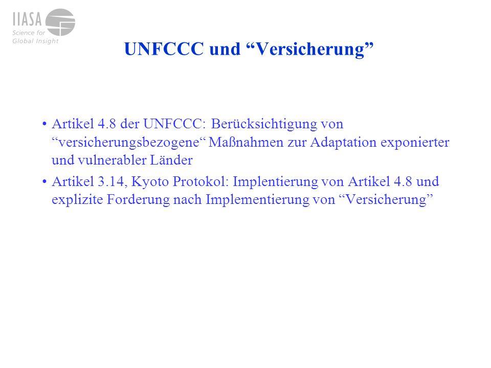 UNFCCC und Versicherung