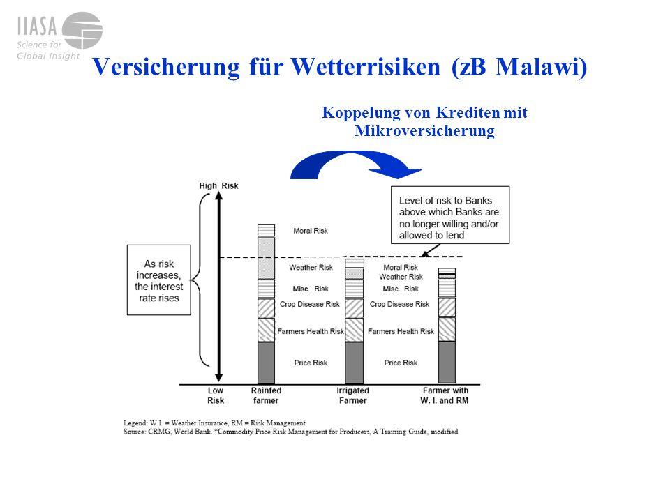 Versicherung für Wetterrisiken (zB Malawi)