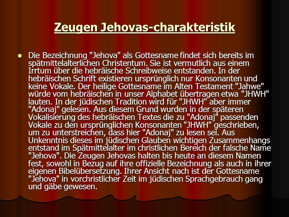 Zeugen Jehovas-charakteristik
