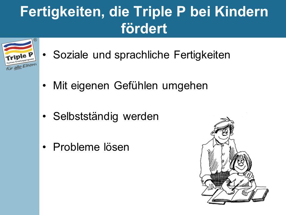 Fertigkeiten, die Triple P bei Kindern fördert
