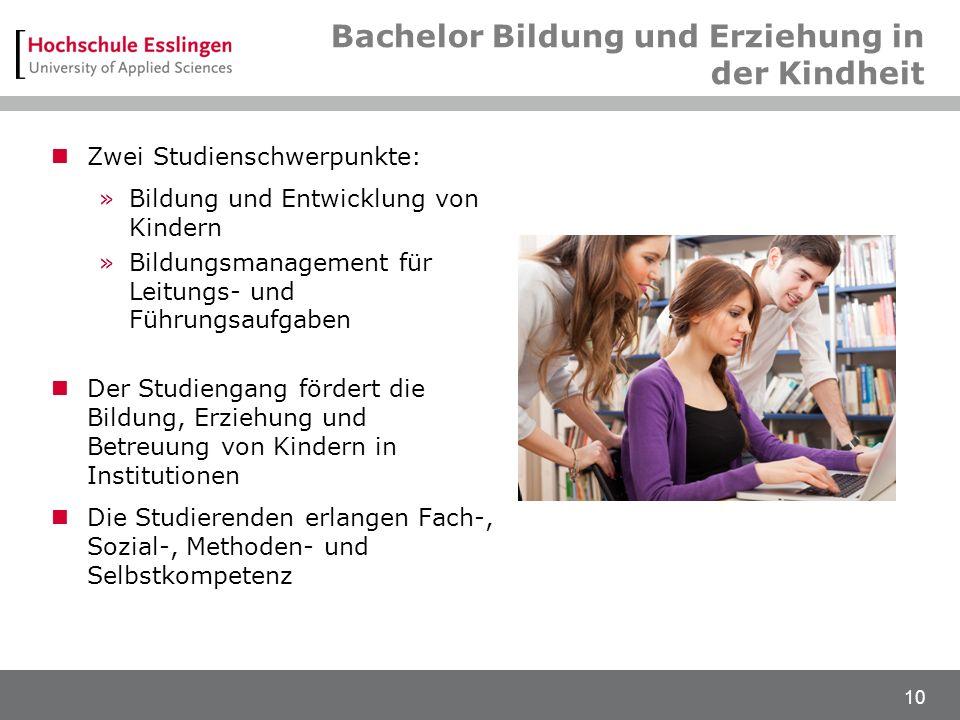 Bachelor Bildung und Erziehung in der Kindheit