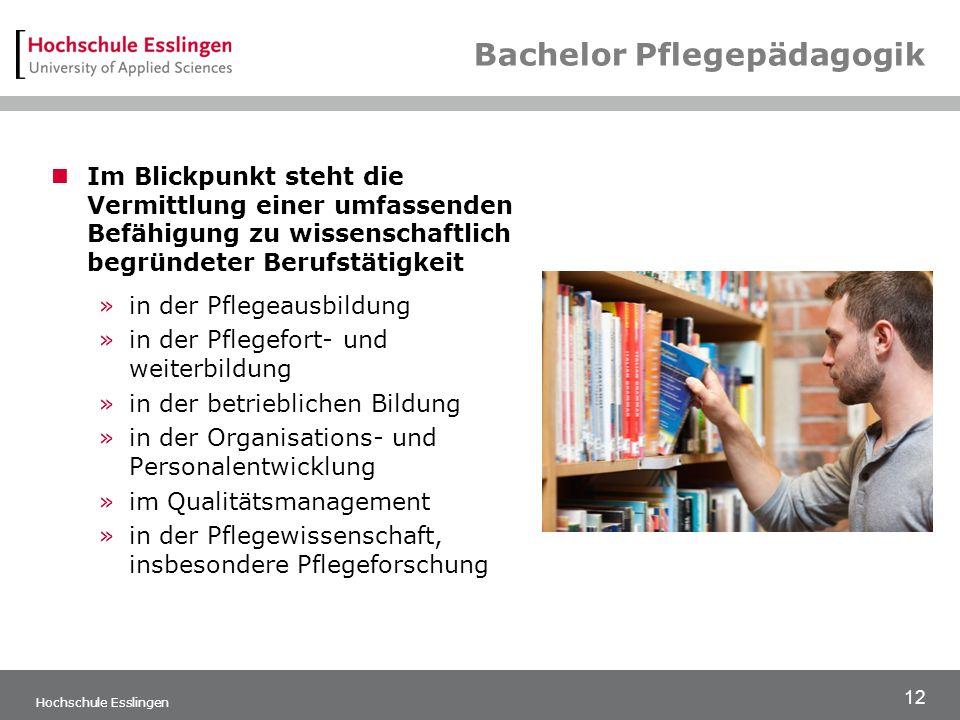 Bachelor Pflegepädagogik