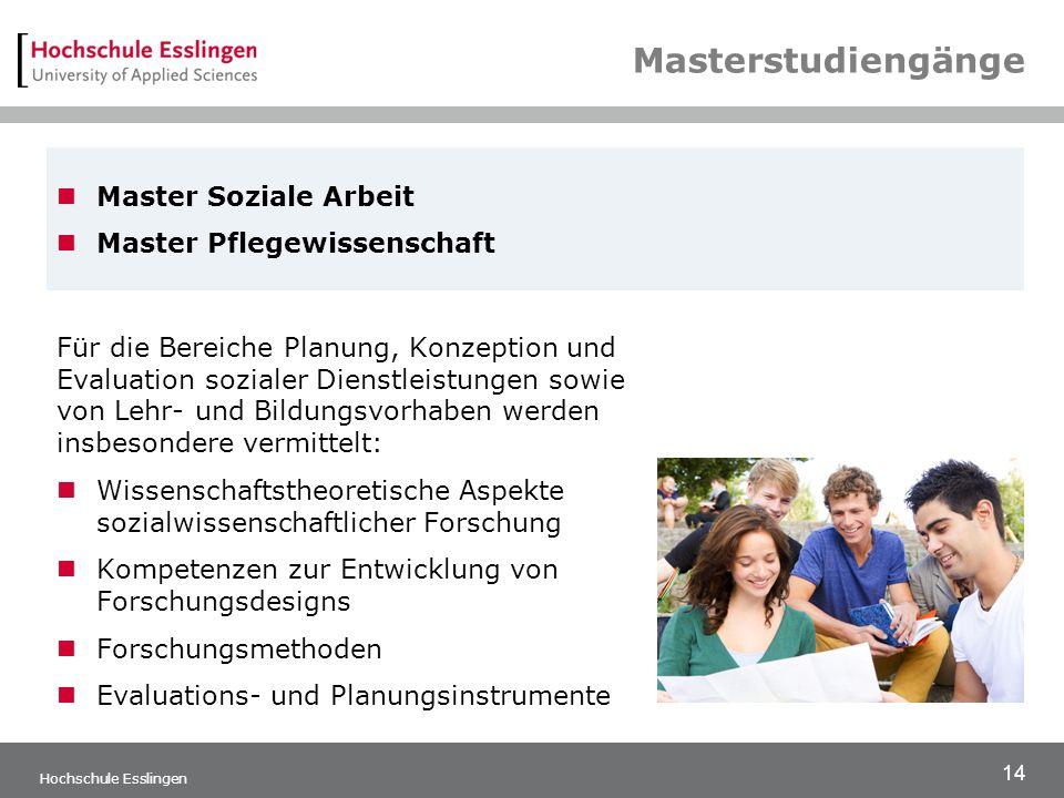 Masterstudiengänge Master Soziale Arbeit Master Pflegewissenschaft