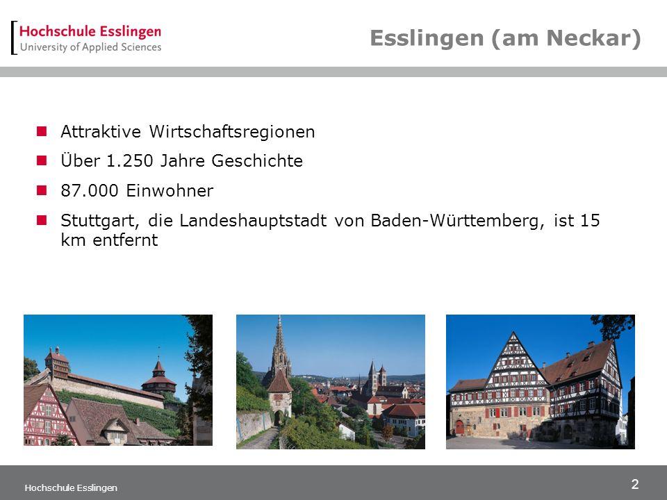 Esslingen (am Neckar) Attraktive Wirtschaftsregionen