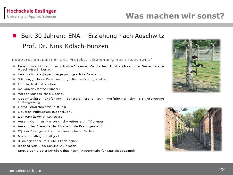 Was machen wir sonst Seit 30 Jahren: ENA – Erziehung nach Auschwitz