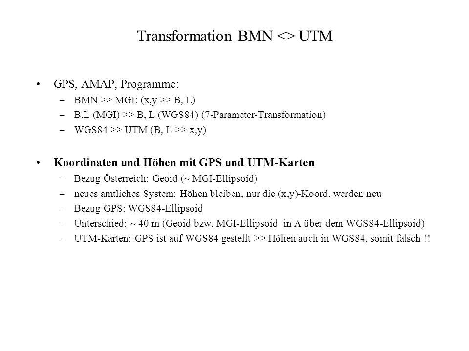 Transformation BMN <> UTM