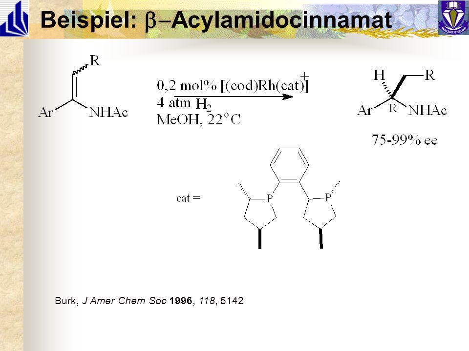 Beispiel: b-Acylamidocinnamat