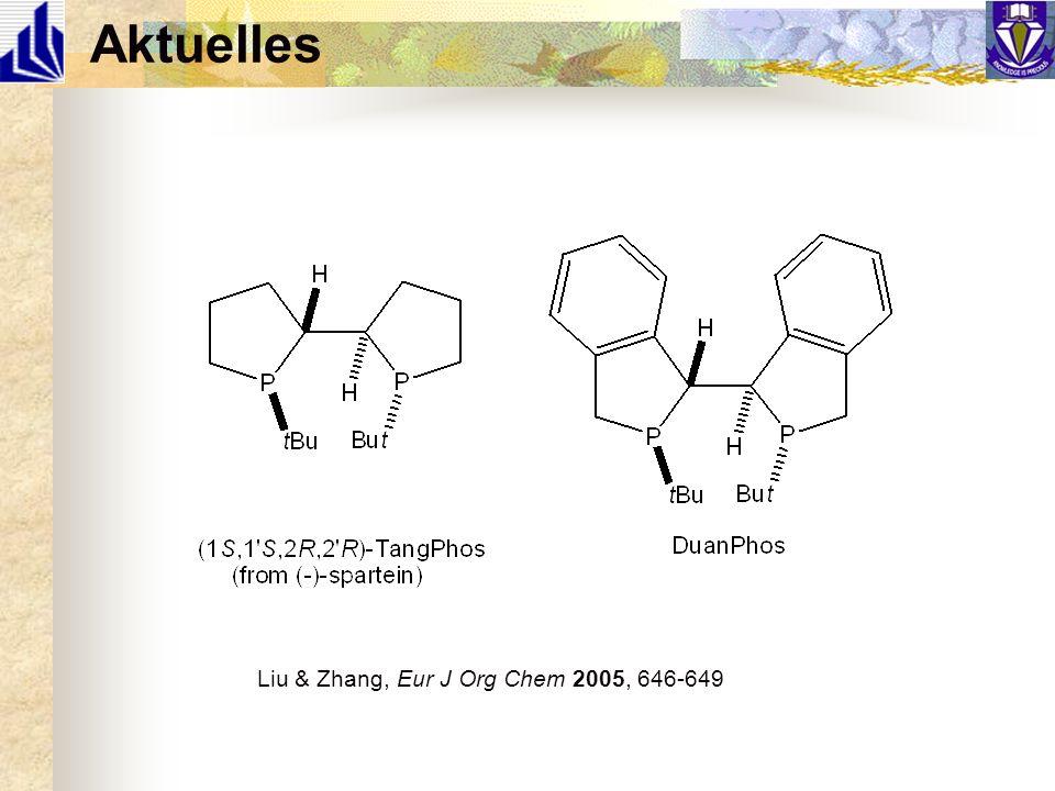 Aktuelles Liu & Zhang, Eur J Org Chem 2005, 646-649