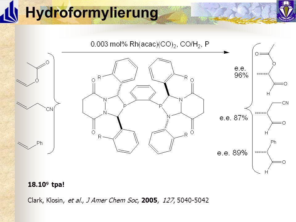 Hydroformylierung 18.109 tpa!