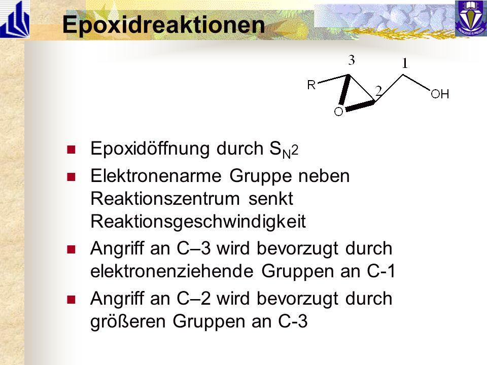 Epoxidreaktionen Epoxidöffnung durch SN2