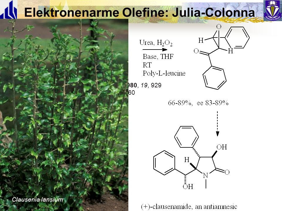 Elektronenarme Olefine: Julia-Colonna