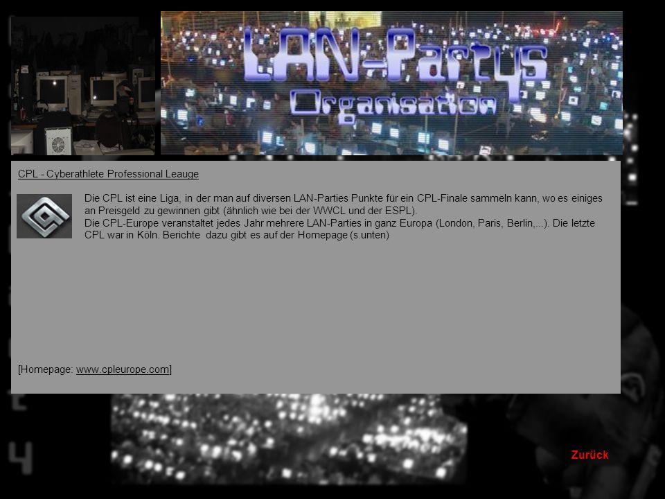 Zurück CPL - Cyberathlete Professional Leauge