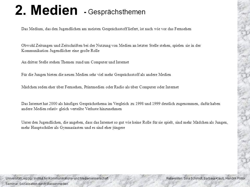 2. Medien - Gesprächsthemen