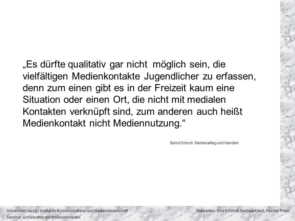Bernd Schorb: Medienalltag und Handeln