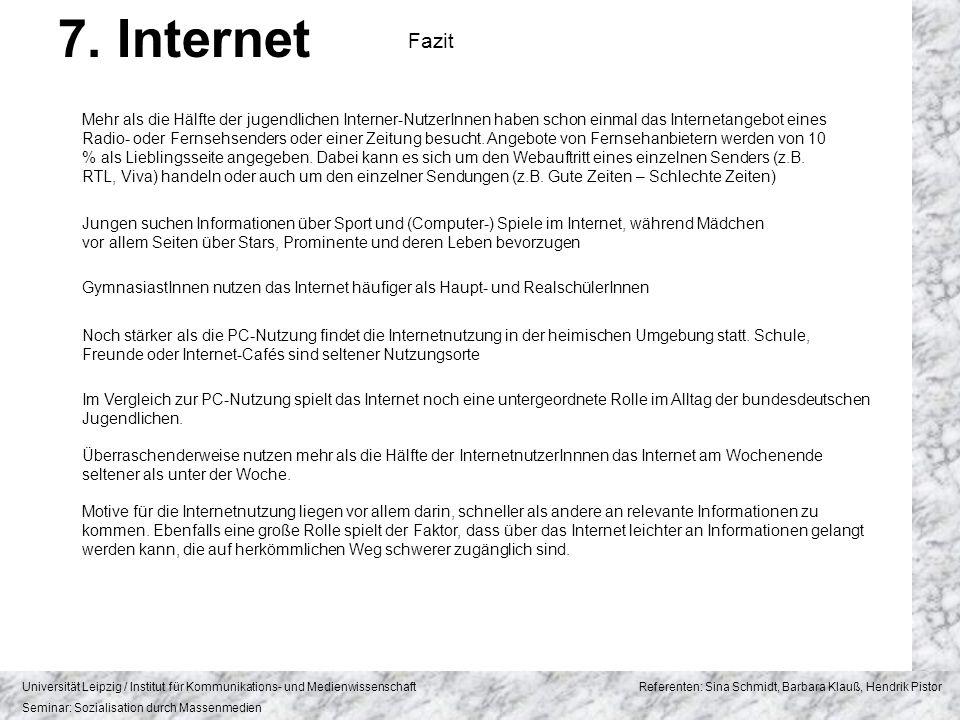 7. Internet Fazit.