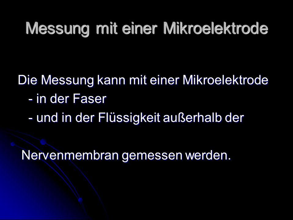 Messung mit einer Mikroelektrode