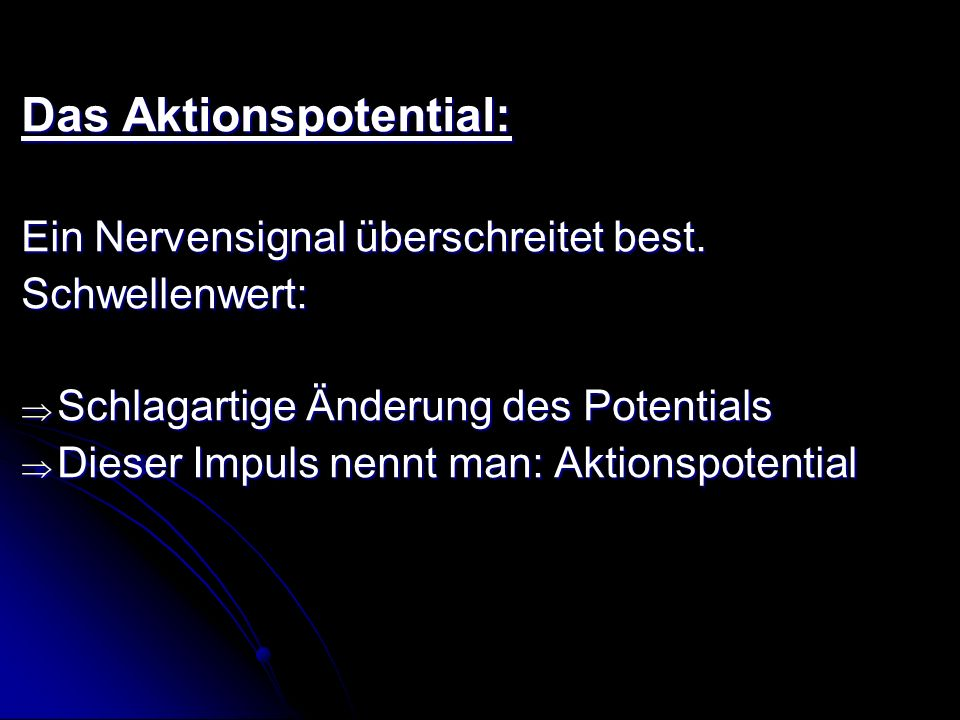 Das Aktionspotential:
