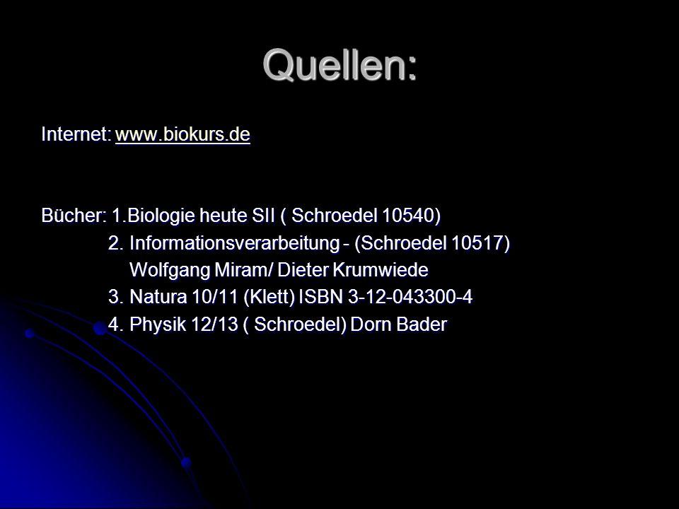 Quellen: Internet: www.biokurs.de