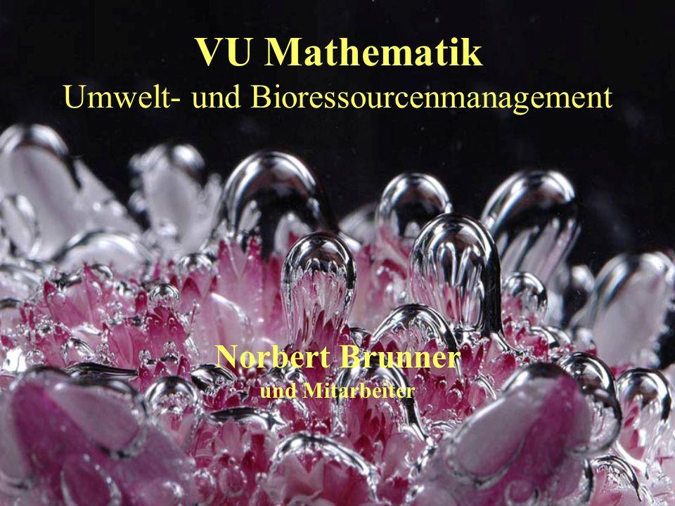 VU Mathematik Umwelt- und Bioressourcenmanagement