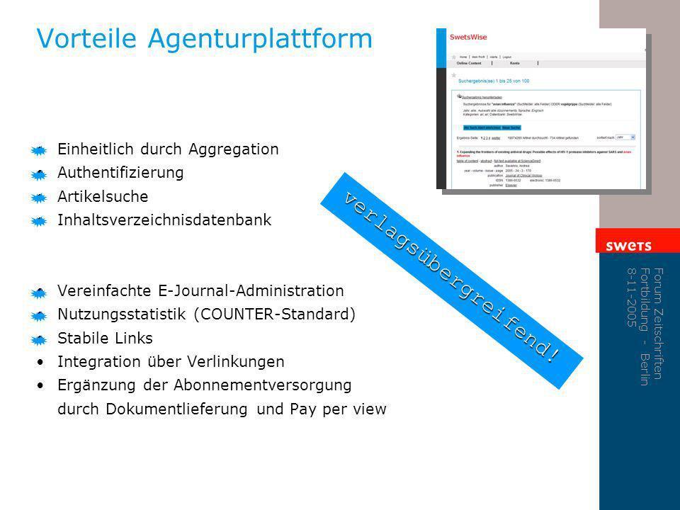 Vorteile Agenturplattform