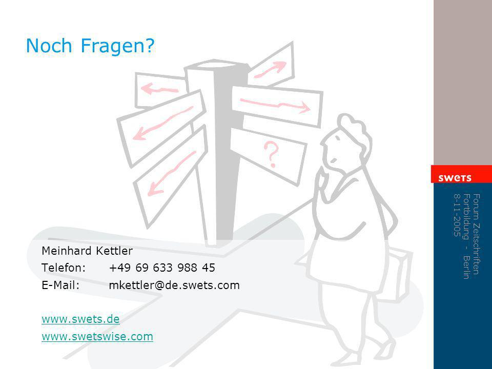 Noch Fragen Meinhard Kettler Telefon: +49 69 633 988 45