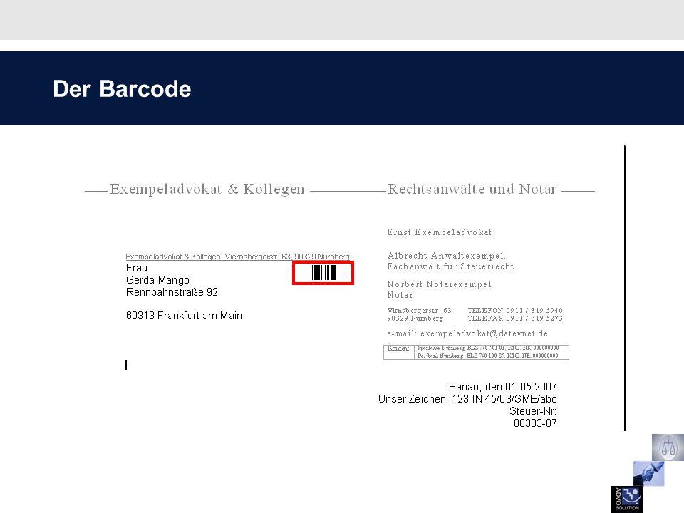 Der Barcode