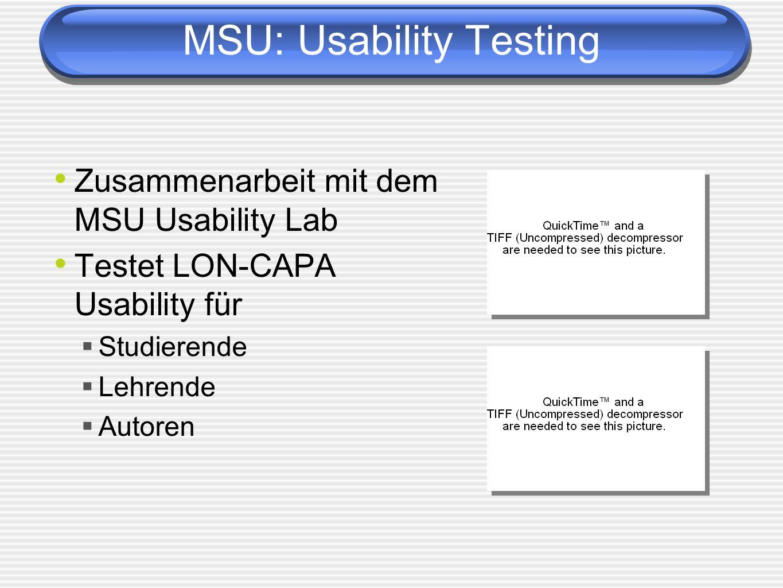MSU: Usability Testing