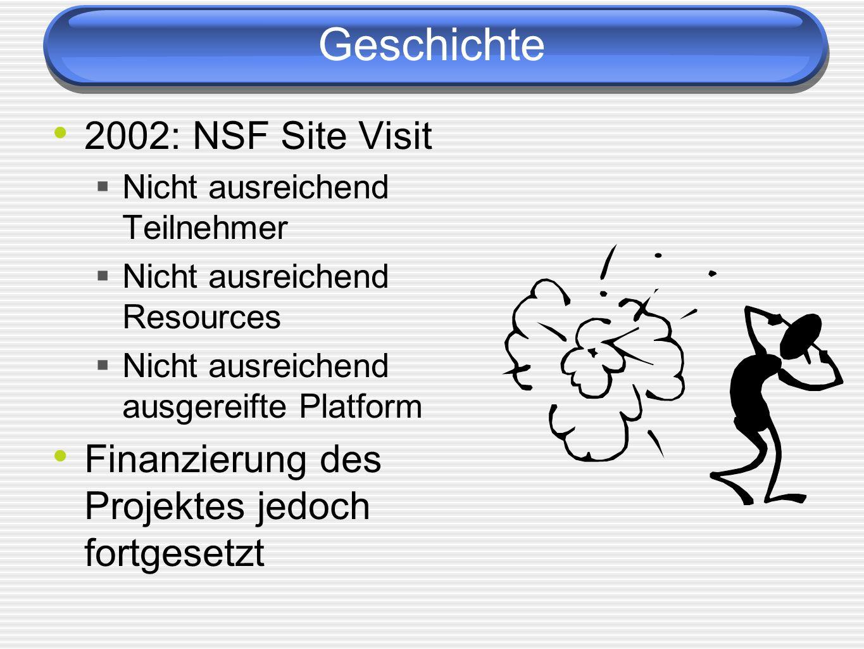 Geschichte 2002: NSF Site Visit