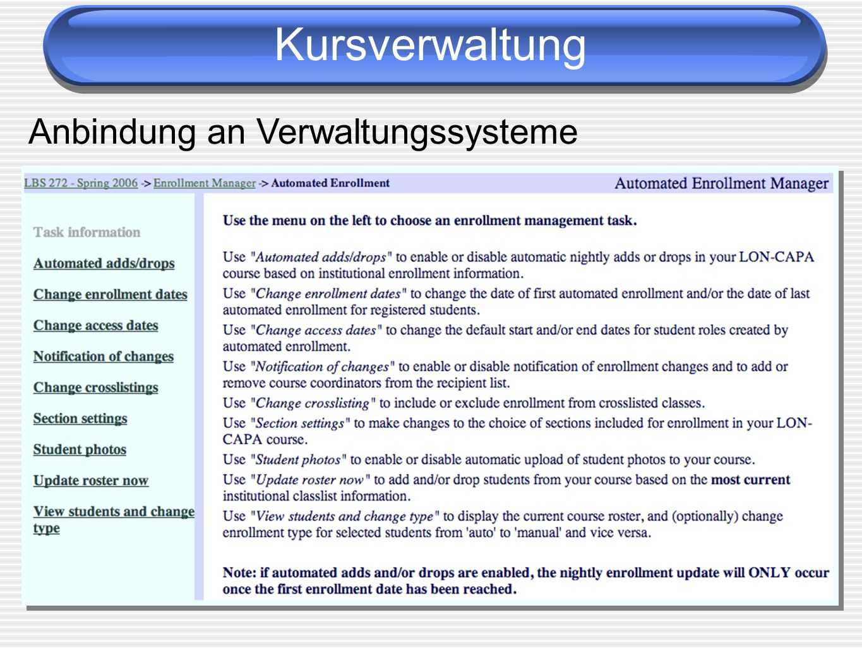 Anbindung an Verwaltungssysteme