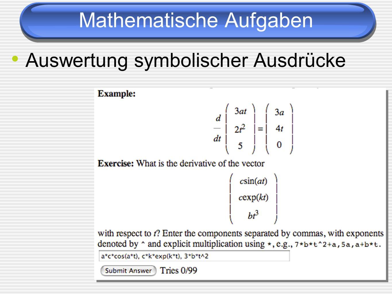 Mathematische Aufgaben
