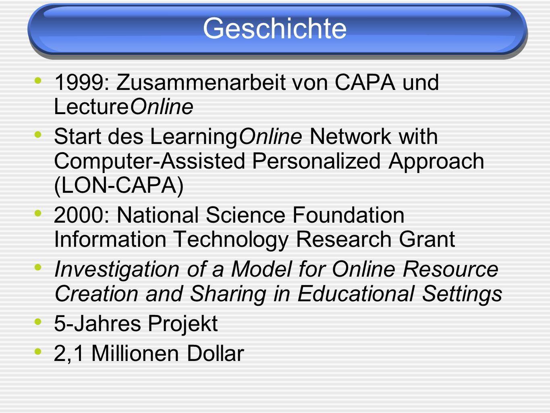 Geschichte 1999: Zusammenarbeit von CAPA und LectureOnline
